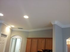 Showing Crown Molding on a rounded corner.