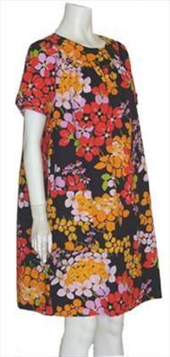 Vintage Floral Print 60s Tent Dress  $49.00