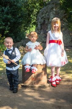 Got to love youngsters as the bridesmaids and ring bearer! Girls Dresses, Flower Girl Dresses, Ring Bearer, Photography Portfolio, Bridesmaids, Patches, Wedding Photography, Wedding Dresses, Fashion