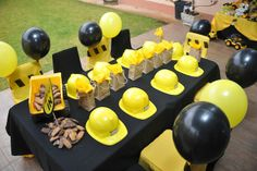 Mining + Construction Themed 3rd Birthday Party