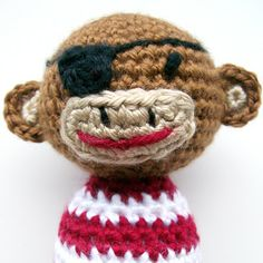 Crocheted Eyepatch to make a Pirate Amigurumi ~ Tutorial