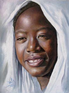Niña de África 4 Dora Alis Mera V.- Artelista.com