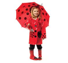 Kidorable Ladybug Rainwear