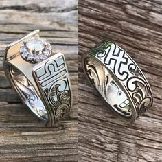 Best Pictures Macrame wedding ring Tips wedding ring cowgirl wedding ring turquoise cowgirl magazine Western Wedding Rings, Western Rings, Big Wedding Rings, Cowgirl Wedding, Wedding Ring Styles, Wedding Boots, Custom Wedding Rings, Wedding Ring Designs, Wedding Rings Vintage