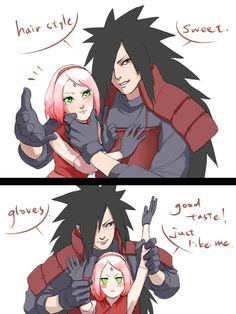 Gloves-good taste just like me xD  #madara #sakura