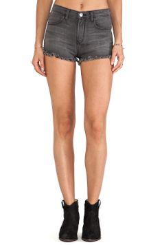 #REVOLVEclothing high waisted denim shorts