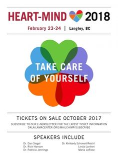 Heart-Mind 2018 Conference: Take Care of Yourself   Dalai Lama Center for Peace and Education