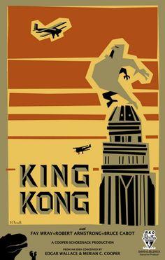King Kong 8x10 11x17 16x20 24x36 27x40 Movie Poster Vintage B | eBay