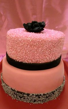 Glam Cake With Sparkles My Future Birthday 40th