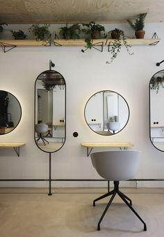 Interior Design For Living Room Hair Salon Interior, Salon Interior Design, Home Salon, Interior Decorating, Beauty Salon Decor, Beauty Salon Design, Beauty Bar, Small Hair Salon, Barber Shop Decor