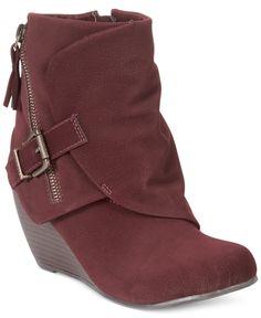 c770a99b3a76 Blowfish Bilocate Wedge Booties Shoes - Boots - Macy s