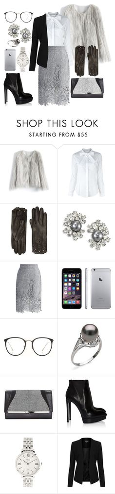 """""""Untitled #414"""" by mayer-fruzsina ❤ liked on Polyvore featuring Chicwish, Burberry, Kenneth Jay Lane, Linda Farrow, Khirma Eliazov, Yves Saint Laurent, FOSSIL and Topshop"""