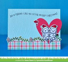 the Lawn Fawn blog: Simon Says Stamp STAMPtember Christmas Like No Otter Card