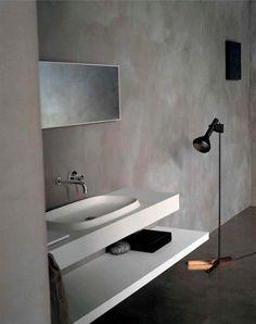 Paredes de microcemento en el baño