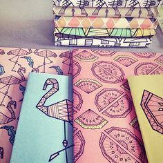 Notebooks for ShowUP feb 2015 #stationary #pattern #graphicdesign
