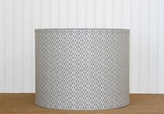 Drum Lamp Shade Lampshades Geomtric Robert Allen Greystone Motif Made to Order by Sassyshades on Etsy https://www.etsy.com/transaction/1019965128