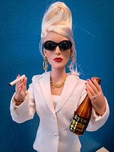 AbFab Barbie - Patsy Stone doll by justrefined British Humor, British Comedy, Toddler Arts And Crafts, Toddler Preschool, Walmart Meme, Patsy And Eddie, Edina Monsoon, Patsy Stone, Joanna Lumley
