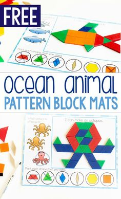 Free printable zoo animal pattern block activity for preschoolers. Grab these free printable pattern block mats for preschool zoo animal themes. #patternblock #freeprintable #zooanimals #zootheme #prek #kindergarten #lifeovercs #finemotor #occupationaltherapy