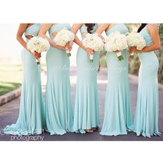 I have always been set on having short dresses for my bridesmaids but these are a pretty color and I actually really like it.