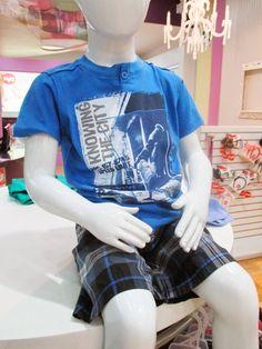 Conjunto de verano para niño en cien por ciento algodón Pima | Figi's