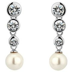 Simple and understated pearl drop earrings with Swarovski crystal elements. These earrings can easily be complimented with bridal hair accessories from our collections. Wedding Earrings, Wedding Jewelry, Pearl Drop Earrings, Silver Earrings, Bridal Jewellery, Bridal Hair Accessories, Belly Button Rings, Swarovski Crystals, Beautiful