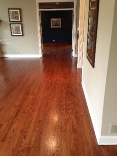Minwax Red Mahogany On White Oak Flooring