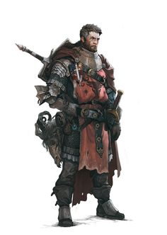 Beautiful Science Fiction, Fantasy and Horror art from all over the world. Fantasy Male, Fantasy Armor, Dark Fantasy Art, Medieval Fantasy, Dungeons And Dragons Characters, Dnd Characters, Fantasy Characters, Fantasy Character Design, Character Design Inspiration