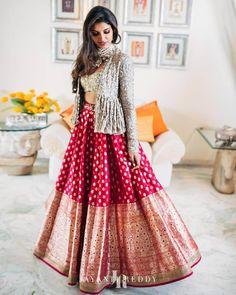Party Wear Indian Dresses, Indian Fashion Dresses, Indian Designer Outfits, Designer Dresses, Designer Wear, Indian Outfits, Designer Baby, Ethnic Outfits, Lehenga Choli Designs