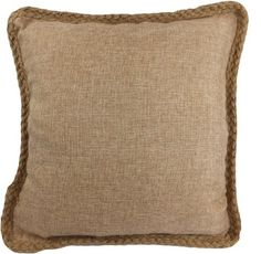 """Decorative Hamp Rope Piping Throw Pillow Cover 18"""" Brown by BLUE DOLPHIN, http://www.amazon.com/dp/B009AY9XWS/ref=cm_sw_r_pi_dp_hZrlsb0BX49SZ"""