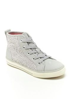 Hanna Andersson Girls' Frida High Top Sneaker - Girl Infant/Toddler/Youth Sizes 8 - 4 - Clay Grey - 9M Toddler
