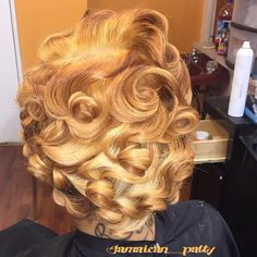 STYLIST FEATURE| Love these curls  and #haircolor styled by #PhillyStylist @Jamaican__Patty➰➰➰ Curls on curls #VoiceOfHair ========================= Go To: www.VoiceOfHair.com =========================  Free eBook on Hairstyles for Black Women