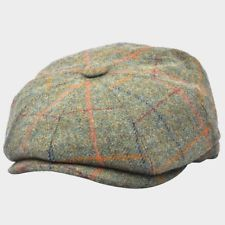 Men s 8 Panel Tweed Baker boy News boy Gatsby Hat Brown 100% Wool Hats    Caps UK ad4e6171e80b