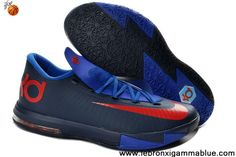 Buy New Nike Zoom KD 6 599424-800 Navy Royal Blue Red Fashion Shoes Store