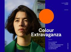 Colour Extravaganza x Stories Collective on Behance Editorial Graphic Design Fashion Print Layout, Layout Design, Web Layout, Ux Design, Editorial Layout, Editorial Design, Layout Inspiration, Graphic Design Inspiration, Book Design