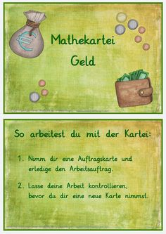 Mathe-Kartei Geld The Effective Pictures We Offer You About Education Level quotes A quality picture can tell you many things. You can find the most beautiful pictures that can be presented to you abo Math 2, Maths Puzzles, Kindergarten Math, Preschool, Math Vocabulary, Primary Teaching, Primary Education, Primary School, Education Week