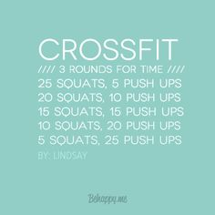 Crossfit workout ~ 3 rounds for time
