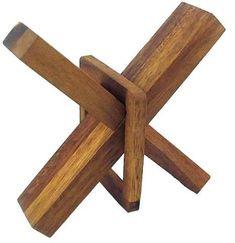 Crazy X - Brain Teaser Wooden Puzzle