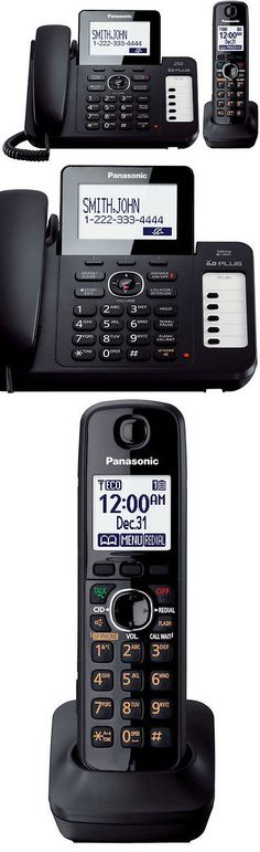 Corded Cordless Phone Combos: Panasonic Kx-Tg6671b 1.9Ghz Dect 6.0 Corded / Cordless Phone Combo New BUY IT NOW ONLY: $75.54