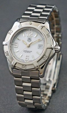 701186f5035d3 Tag Heuer Watch (Women s Pre-owned Professional Stainless Steel Bracelet  Luxury Diver Wrist Watch)