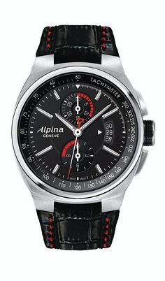 ALPINA CHRONOGRAPH DATE RACING GT-3  Swiss Automatic Racing Chronograph with date function!  Model:  AL-725B5AR26  http://www.racewatches.com/AlpinaChronoDate-Racing-GT3.html  M.S.R.P. $2,595.00  Contact us for price:  sales@racewatches.com  (305) 247-4535