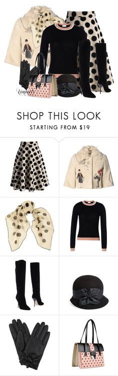 Skirt and Boots by cavell on Polyvore featuring RED Valentino, Chicwish, Jimmy Choo, Yves Saint Laurent, Eric Javits, women's clothing, women's fashion, women, female and woman