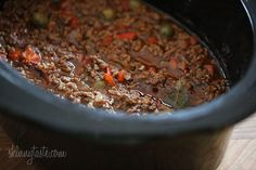 """Crock Pot Picadillo 