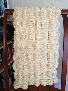 Ravelry free pattern. Totally garter stitch, made by switching needle size. Can't get much easier than this!