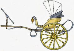 Curricle - Different from a gig in that it had two horses driven abreast. Courtesy Wikipedia.com http://commons.wikimedia.org/wiki/File:Curricle.jpg