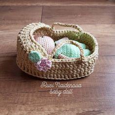 New Baby Doll available in my Etsy shop! Crochet Doll Clothes, Knitted Dolls, Crochet Dolls, Cute Crochet, Crochet Motif, Crochet Patterns, Amigurumi Doll, Amigurumi Patterns, Cute Keychain