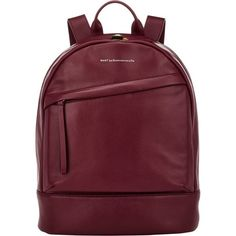 WANT Les Essentiels de la Vie Piper Backpack ($699) ❤ liked on Polyvore featuring bags, backpacks, red, red laptop bag, padded laptop backpack, zip lock bags, padded backpack and laptop pocket backpack