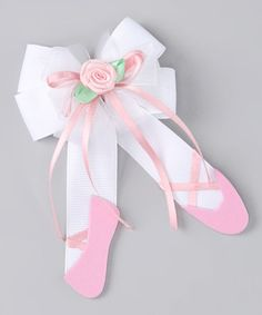 Another great find on #zulily! Pink Ballet Slipper Clip by Picture Perfect Hair Bows #zulilyfinds