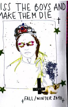 Tribute Zine styled Look Book for the designs of Meadham and Kirchhoff Fashion House
