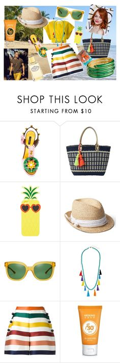 """Summer vibes"" by krisiana on Polyvore featuring Jil Sander, Dolce&Gabbana, Lilly Pulitzer, Charlotte Russe, Gap, Tory Burch, Ciner, Rebecca Minkoff, Carolina Herrera and Prada"