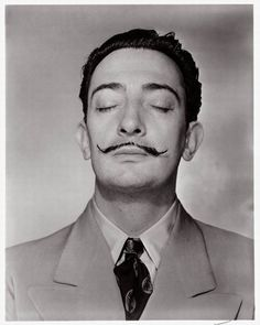 Dreaming Dali by Man Ray = perfection. Used to be obsessed with both of them! #art #photography #B&W